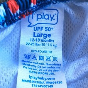 iPlay Swim - iPlay Swim Diaper Pants Baby 12-18months